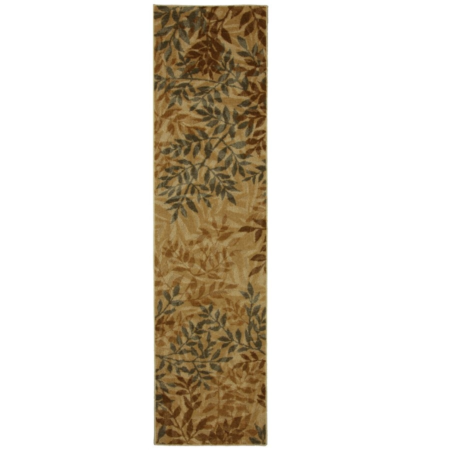 Mohawk Home Waterloo Leaves Beige Brown Rectangular Indoor Tufted Runner (Common: 2 x 8; Actual: 24-in W x 96-in L x 0.5-ft Dia)