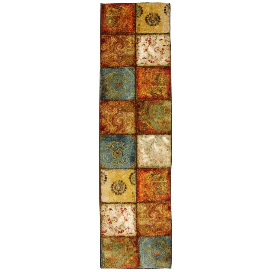 Mohawk Home Yellow Springs Patchwork Multicolor Rectangular Indoor Tufted Runner (Common: 2 x 8; Actual: 24-in W x 96-in L x 0.5-ft Dia)
