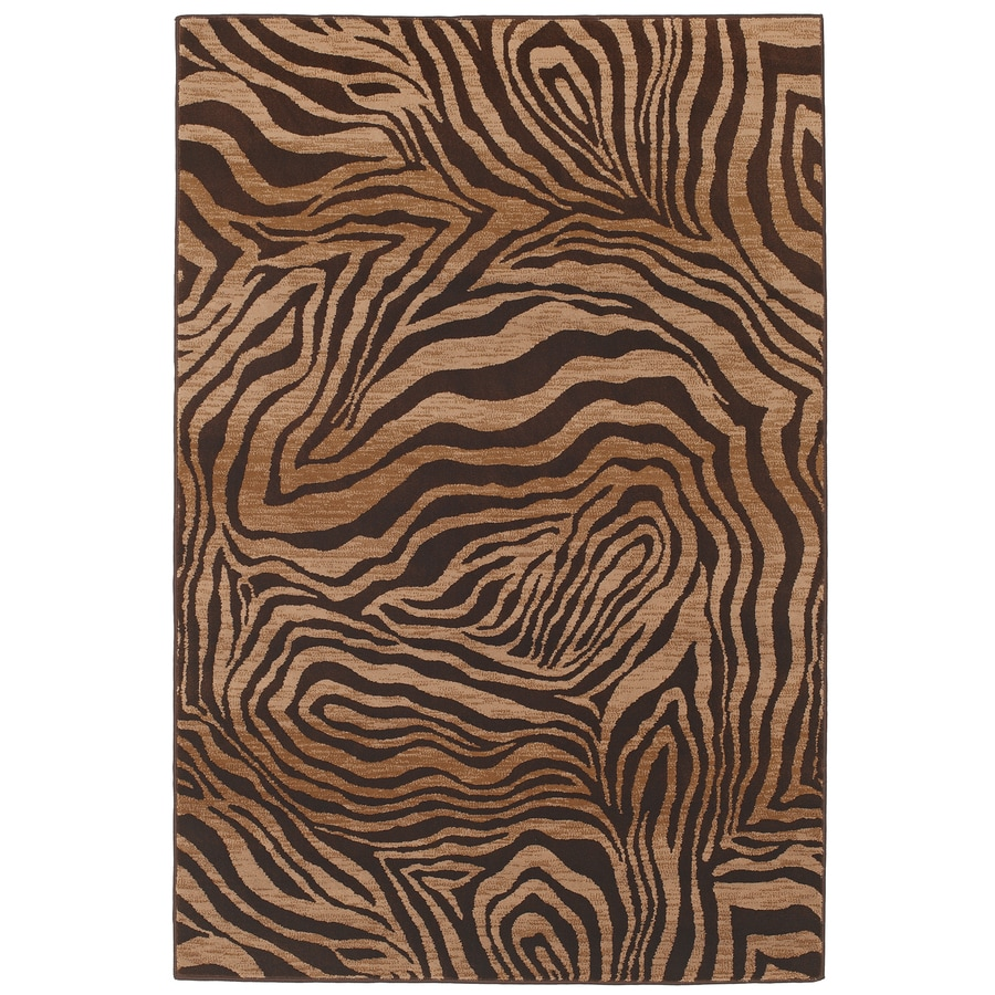Mohawk Home Contours Camel Rectangular Indoor Woven Area Rug (Common: 5 x 8; Actual: 63-in W x 94-in L)