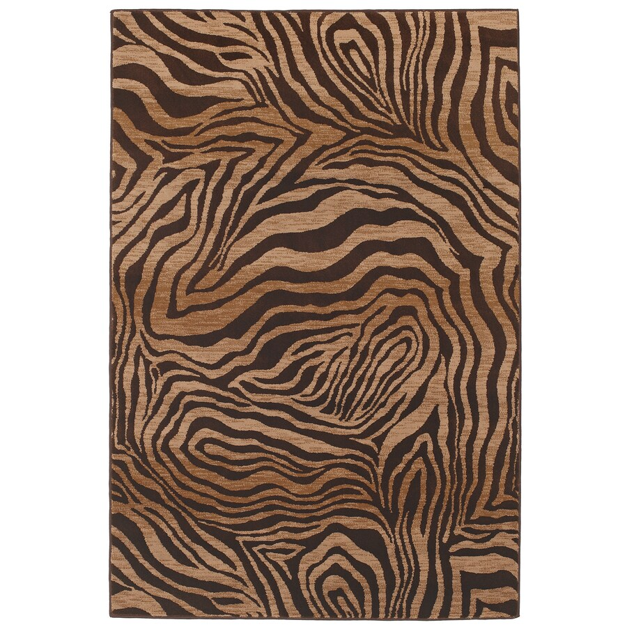 Mohawk Home Contours Camel Rectangular Indoor Woven Area Rug (Common: 8 x 10; Actual: 96-in W x 120-in L)
