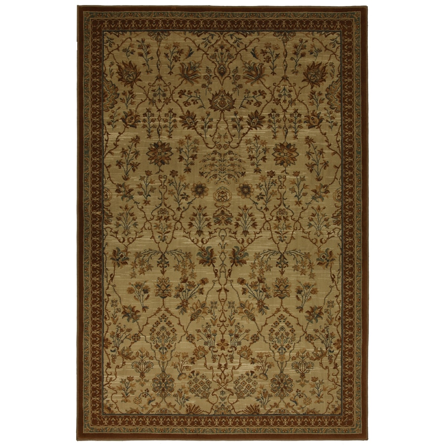 allen + roth Empire Park Md 5-ft 3-in x 7-ft 10-in Rectangular Brown Transitional Area Rug