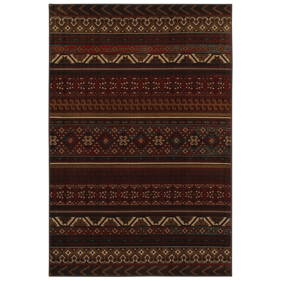 Mohawk Home Cedar Run Dark Brown Brown Rectangular Indoor Woven Area Rug (Common: 8 x 10; Actual: 96-in W x 120-in L x 0.5-ft Dia)