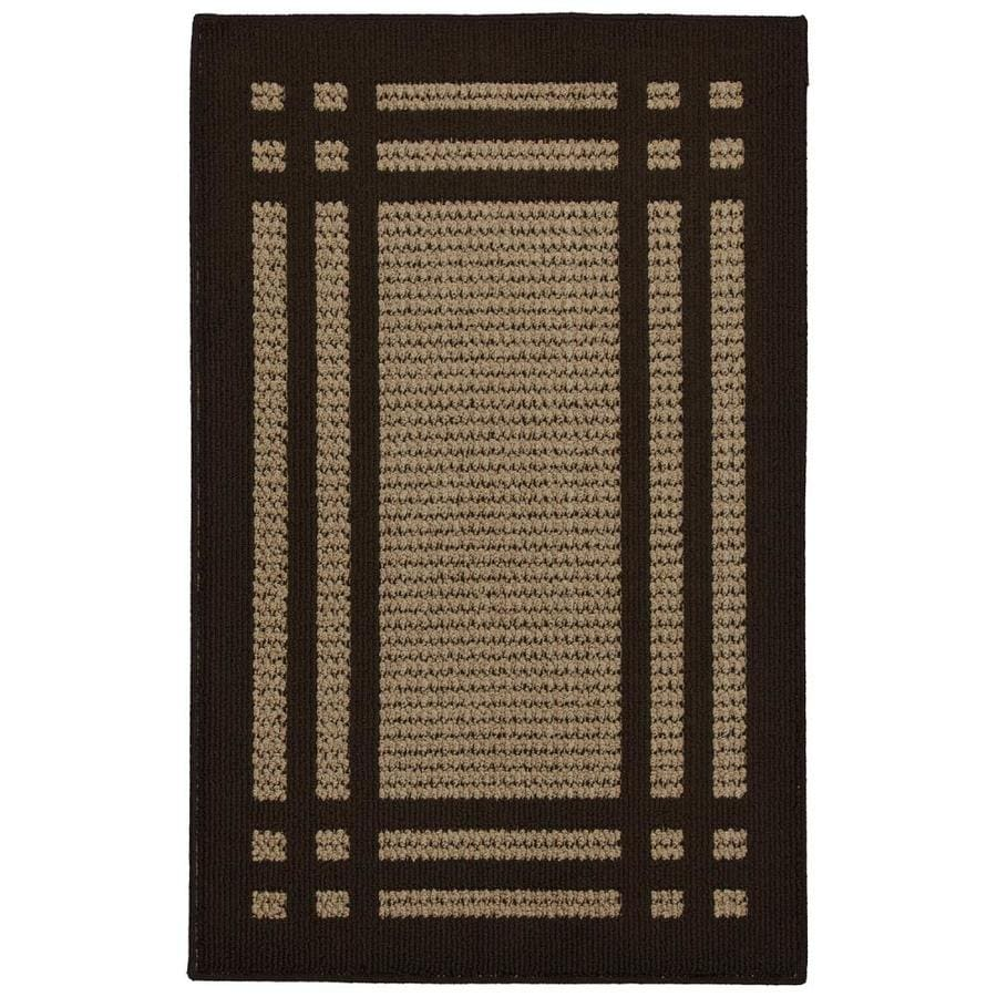 allen + roth Carney Brown Rectangular Indoor Tufted Throw Rug (Common: 2 x 3; Actual: 24-in W x 40-in L x 0.5-ft dia)