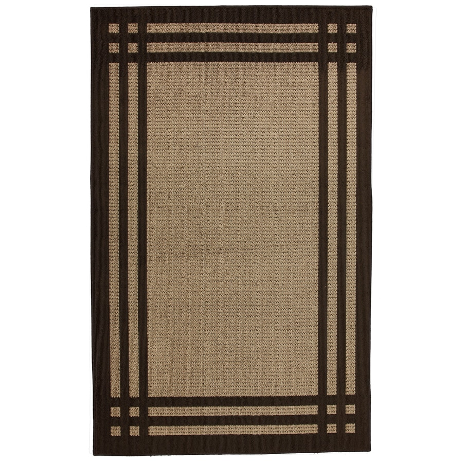 allen + roth Carney Brown Rectangular Indoor Tufted Area Rug (Common: 5 x 8; Actual: 60-in W x 96-in L x 0.5-ft Dia)