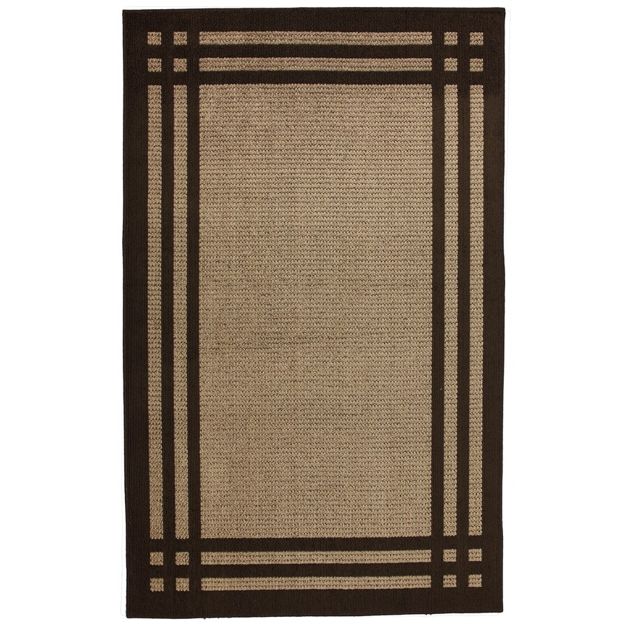 allen + roth Carney Brown Rectangular Indoor Tufted Area Rug (Common: 5 x 8; Actual: 5-ft W x 8-ft L x 0.5-ft Dia)