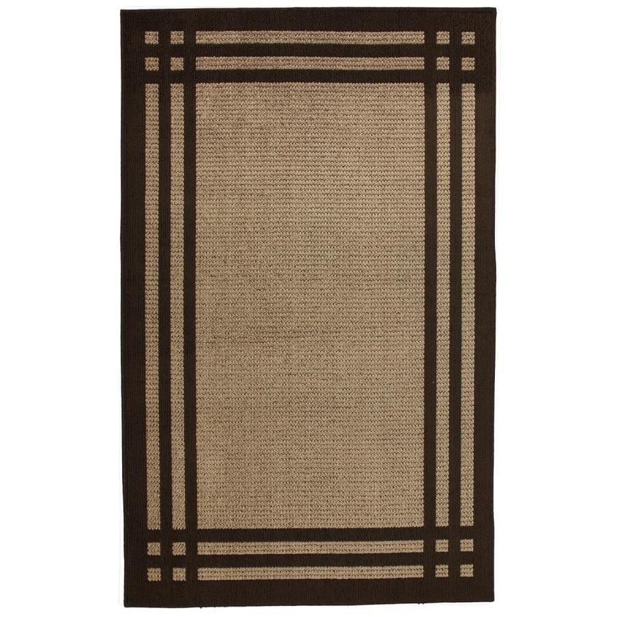 allen + roth Carney Brown Rectangular Indoor Machine-Made Inspirational Area Rug (Common: 8 x 10; Actual: 8-ft W x 10-ft L x 0.5-ft dia)