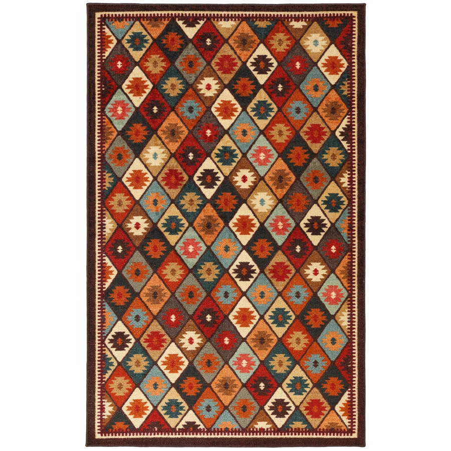 Mohawk Home Qazvin Multicolor Rectangular Indoor Woven Area Rug (Common: 8 x 10; Actual: 96-in W x 120-in L x 0.5-ft Dia)