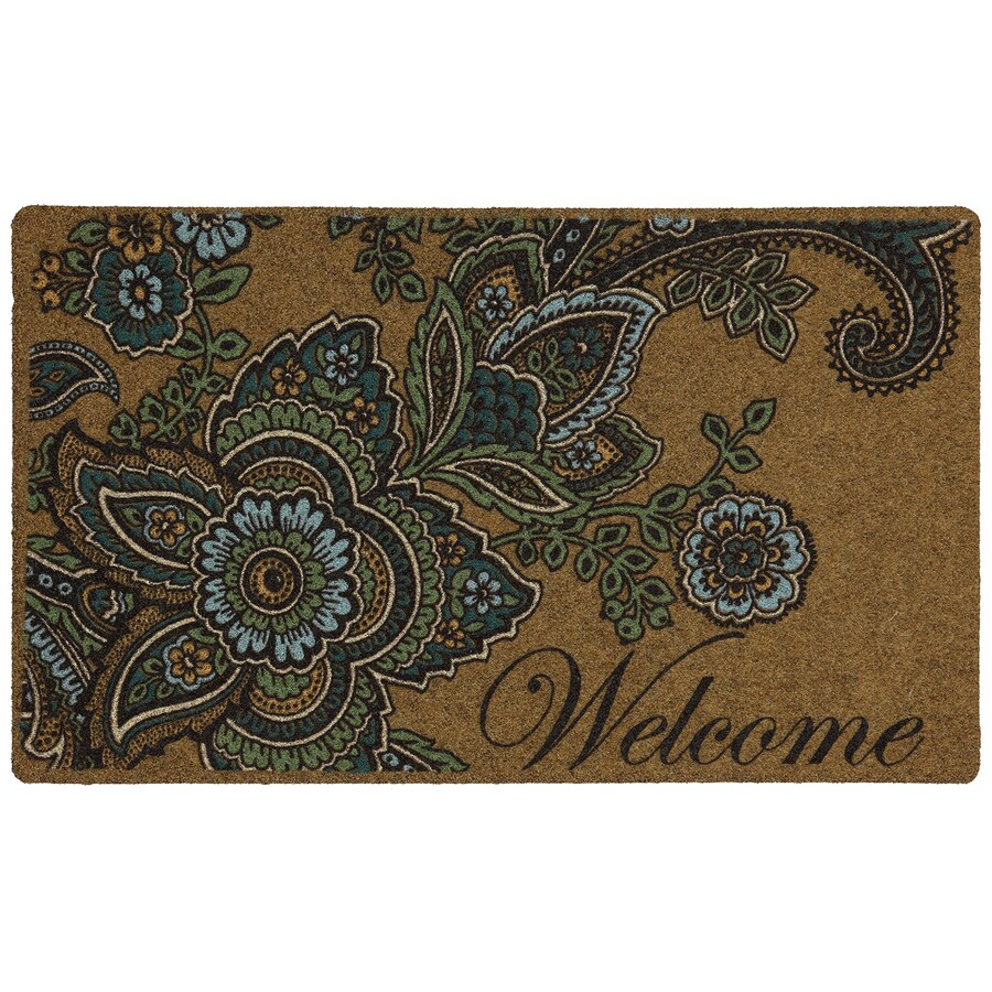 Mohawk Home Brown Rectangular Door Mat (Common: 1-1/2-ft x 2-1/2-ft; Actual: 18-in x 30-in)