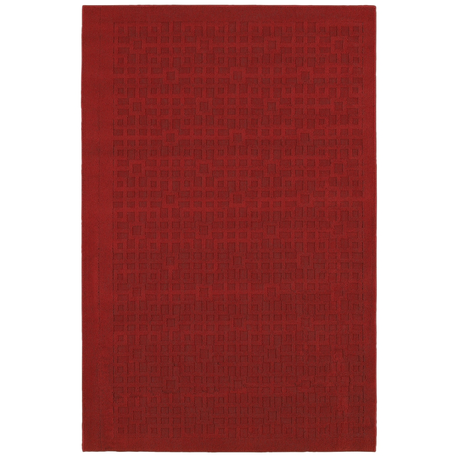Mohawk Home Salt Box Red Rectangular Indoor Tufted Area Rug (Common: 5 x 7; Actual: 60-in W x 84-in L x 0.5-ft Dia)