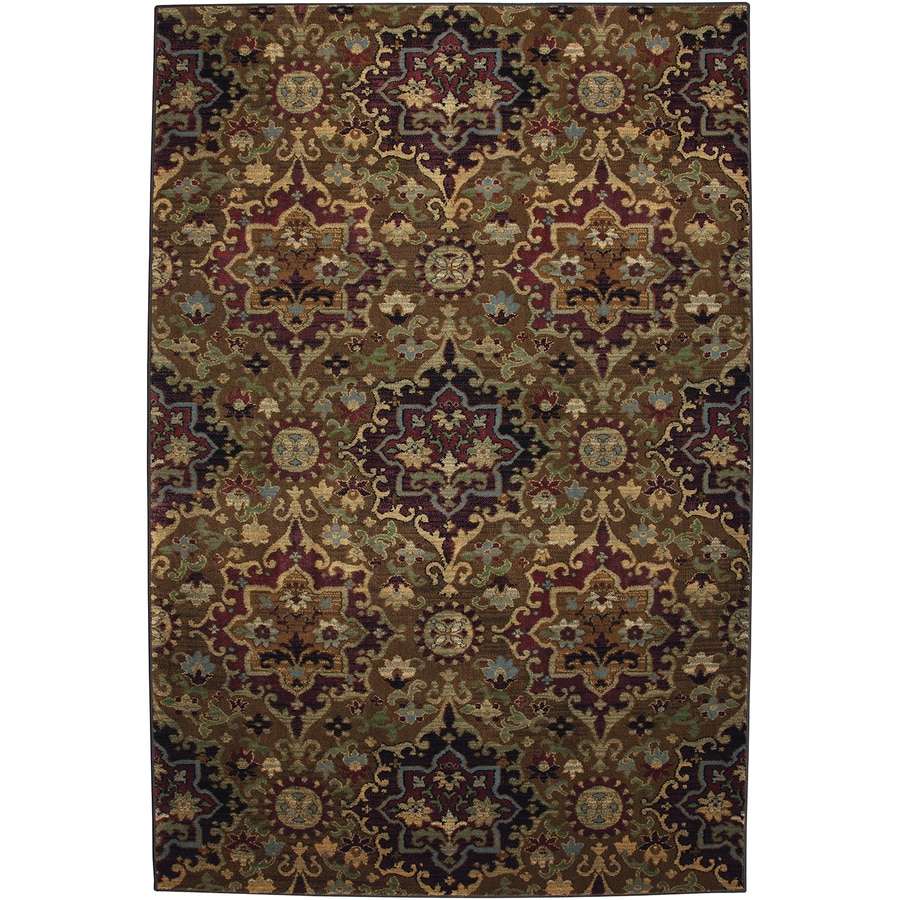 Mohawk Home Casablanca Med Dark Gold Multicolor Rectangular Indoor Woven Area Rug (Common: 5 x 8; Actual: 63-in W x 94-in L x 0.5-ft Dia)
