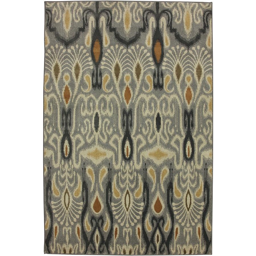 Mohawk Home Dorrego Ikat Sand Beige Grey Rectangular Indoor Woven Area Rug (Common: 5 x 8; Actual: 5.25-ft W x 7.8333-ft L x 0.5-ft Dia)