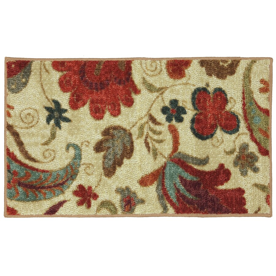 Mohawk Home Tropical Acres Multicolor Rectangular Indoor Tufted Throw Rug (Common: 1-1/2 x 2-1/2; Actual: 20-in W x 34-in L x 0.5-ft Dia)