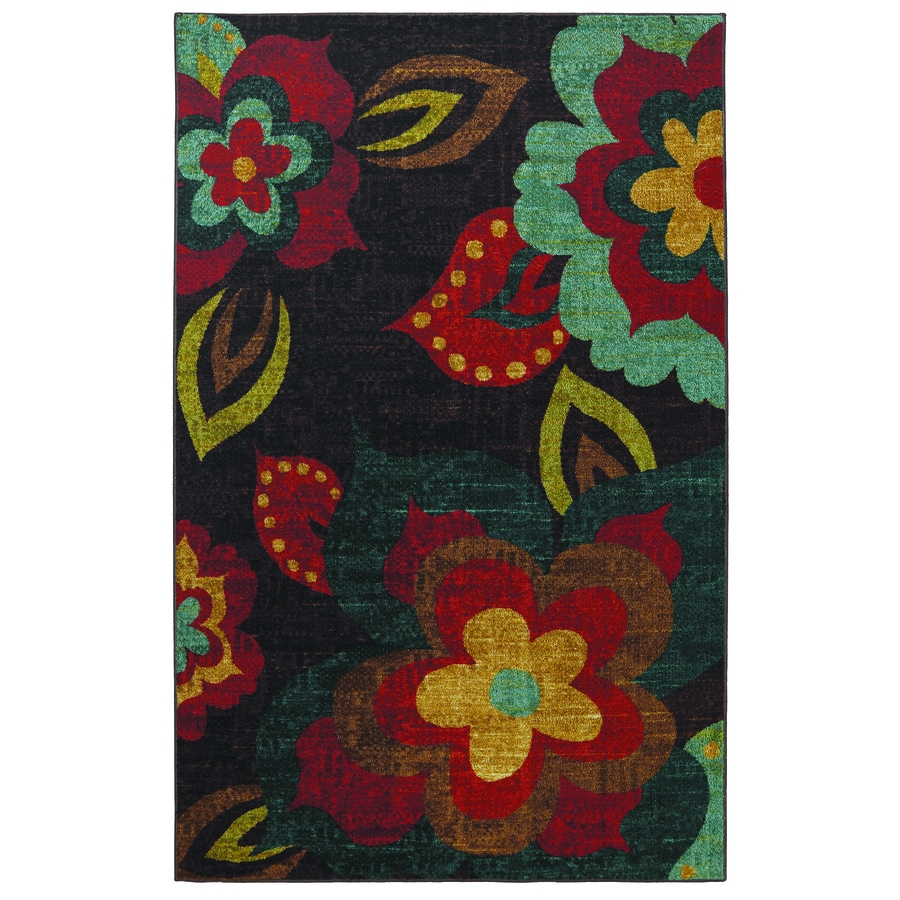 Mohawk Home Ayanna Kaleidoscope Multicolor Rectangular Indoor Tufted Area Rug (Common: 5 x 8; Actual: 60-in W x 96-in L x 0.5-ft Dia)