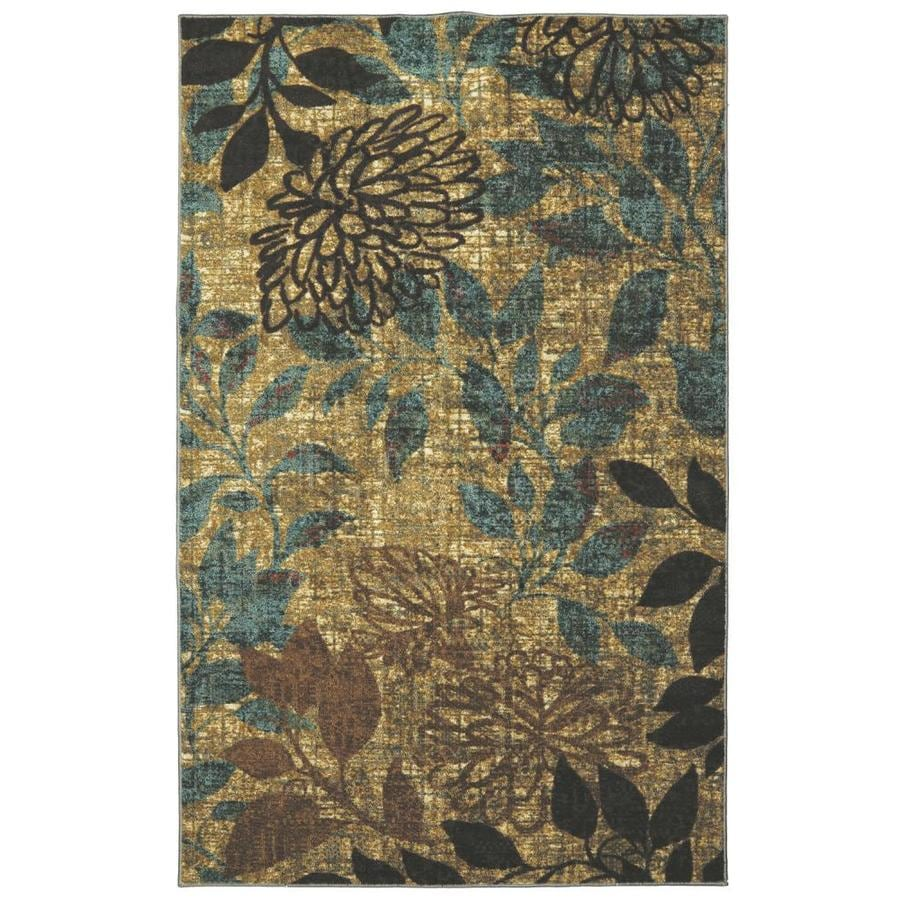 Mohawk Home Mystic Garden Brown Rectangular Indoor Machine-Made Nature Area Rug (Common: 5 x 8; Actual: 5-ft W x 8-ft L x 0.5-ft dia)