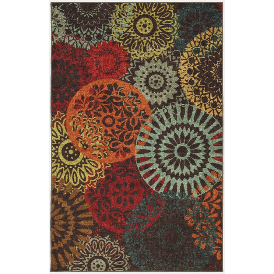 Mohawk Home Medaglia Dark Chocolate Rectangular Indoor Tufted Area Rug (Common: 5 x 8; Actual: 60-in W x 96-in L x 0.5-ft Dia)