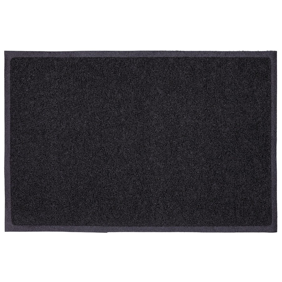 Mohawk Home Black Rectangular Door Mat (Common: 18-in x 30-in; Actual: 17.5-in x 29.5-in)