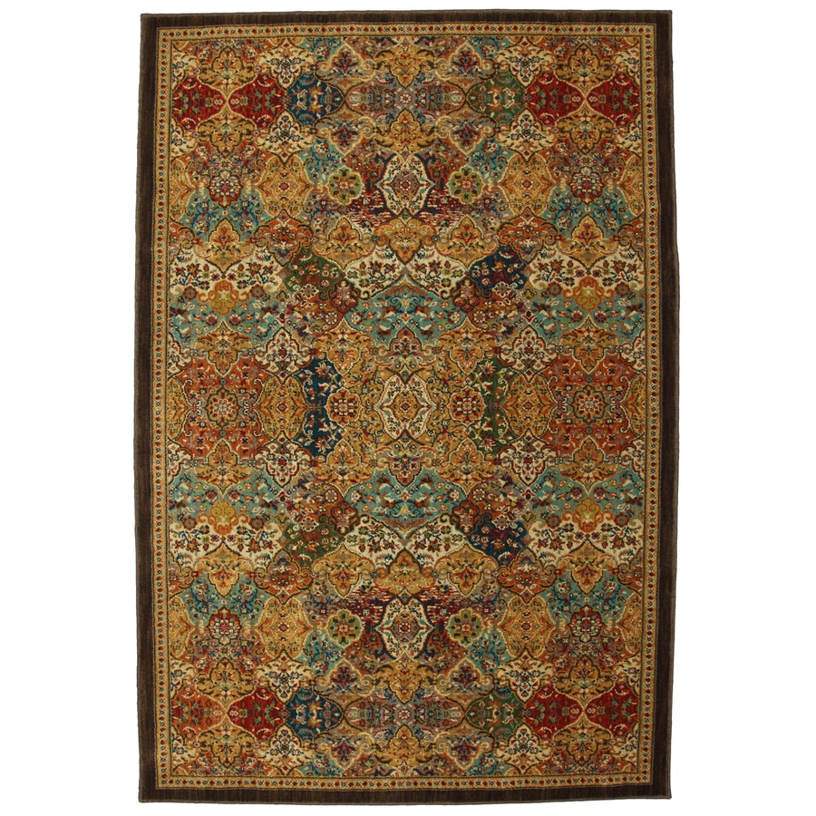 Mohawk Home Excelsior Brown Rectangular Indoor Woven Area Rug (Common: 5 x 8; Actual: 63-in W x 94-in L x 0.5-ft Dia)