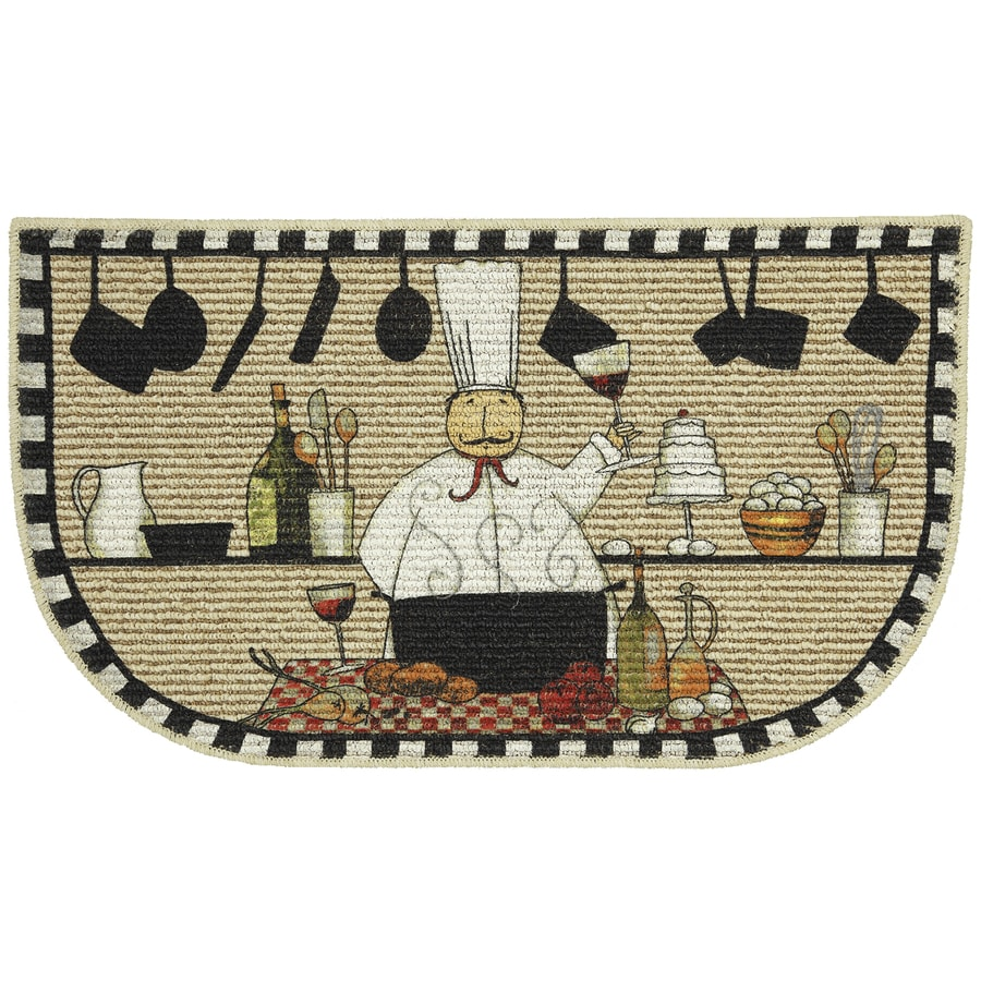 Mohawk Home Off-White Semicircle Door Mat (Common: 1-1/2-ft x 2-1/2-ft; Actual: 18-in x 30-in)