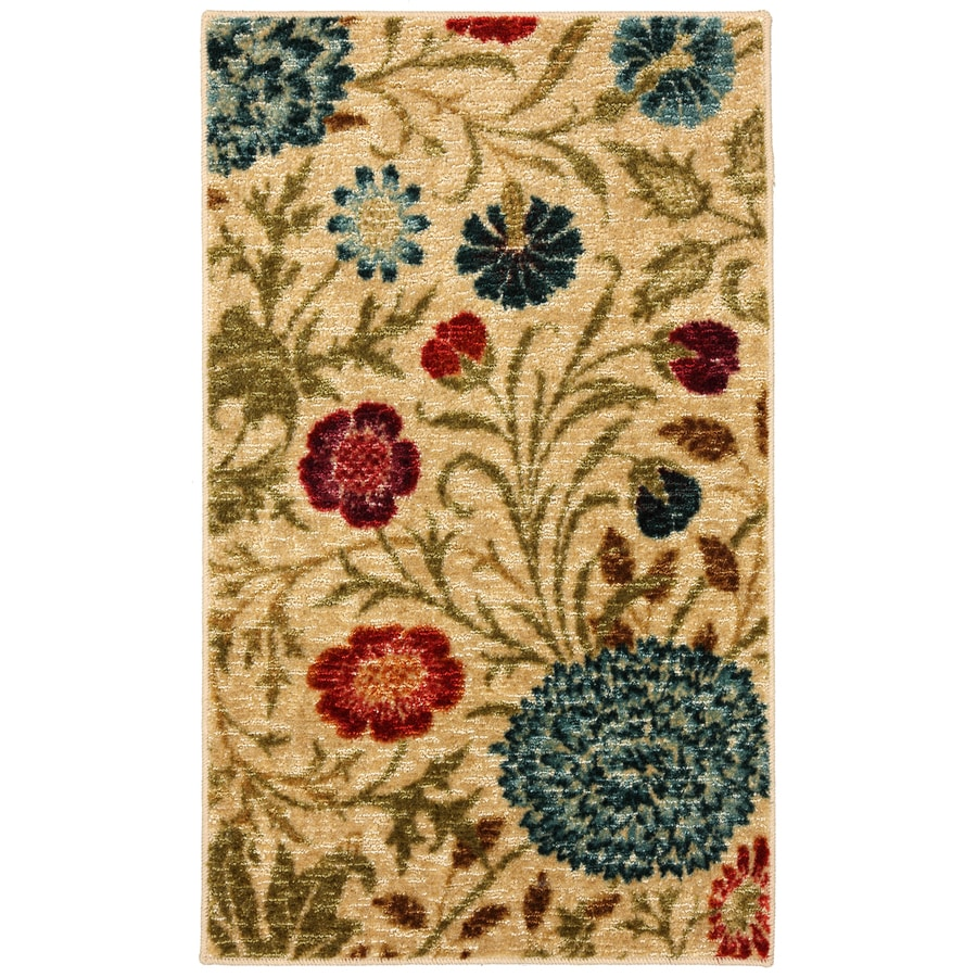 Mohawk Home Bettina Multicolor Rectangular Indoor Tufted Throw Rug (Common: 2 x 3; Actual: 24-in W x 40-in L x 0.5-ft Dia)