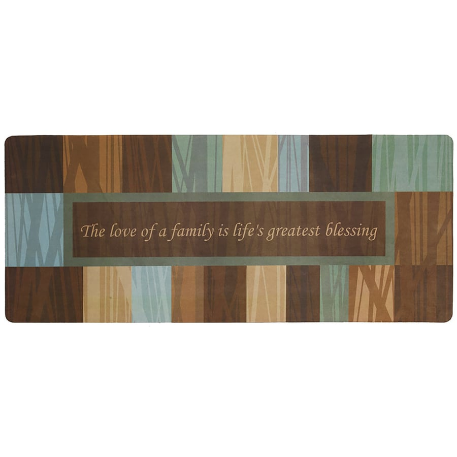 Mohawk Home Brown Rectangular Door Mat (Common: 2-ft x 4-ft; Actual: 20-in x 48-in)
