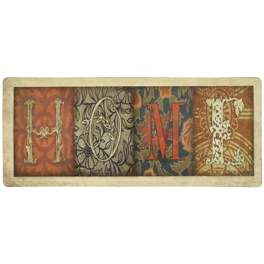Mohawk Home Off-White Rectangular Door Mat (Common: 2-ft x 4-ft; Actual: 20-in x 48-in)