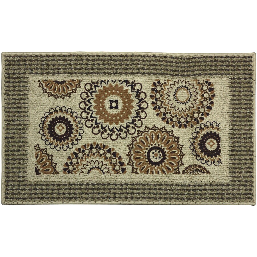 Mohawk Home Off-White Rectangular Door Mat (Common: 1-1/2-ft x 2-1/2-ft; Actual: 18-in x 30-in)