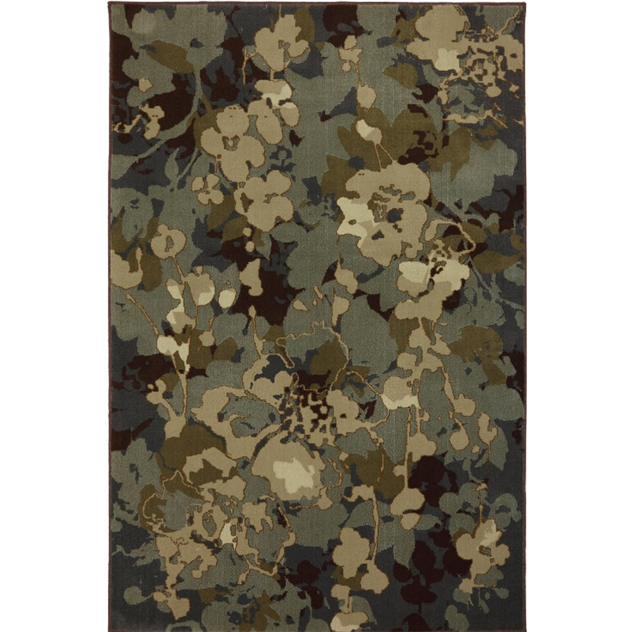 Mohawk Home Patrice Blue Rectangular Indoor Woven Area Rug (Common: 8 x 10; Actual: 96-in W x 120-in L x 0.5-ft Dia)