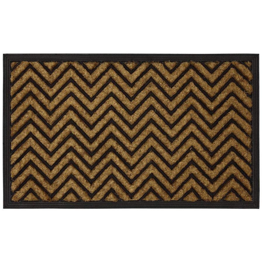 Style Selections Brown/Tan Rectangular Door Mat (Common: 18-in x 30-in; Actual: 17.5-in x 29.5-in)