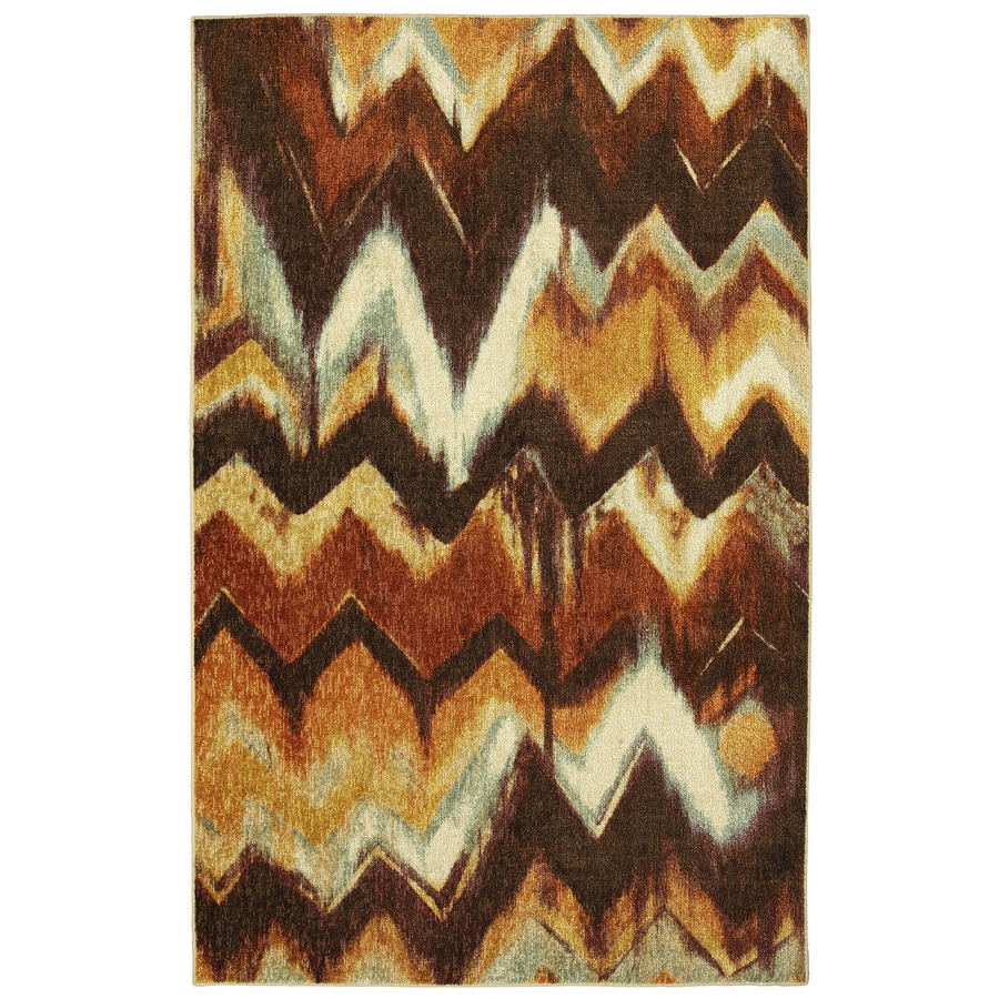 Mohawk Home New Mexico Brown Rectangular Indoor Tufted Area Rug (Common: 5 x 8; Actual: 60-in W x 96-in L x 0.5-ft Dia)