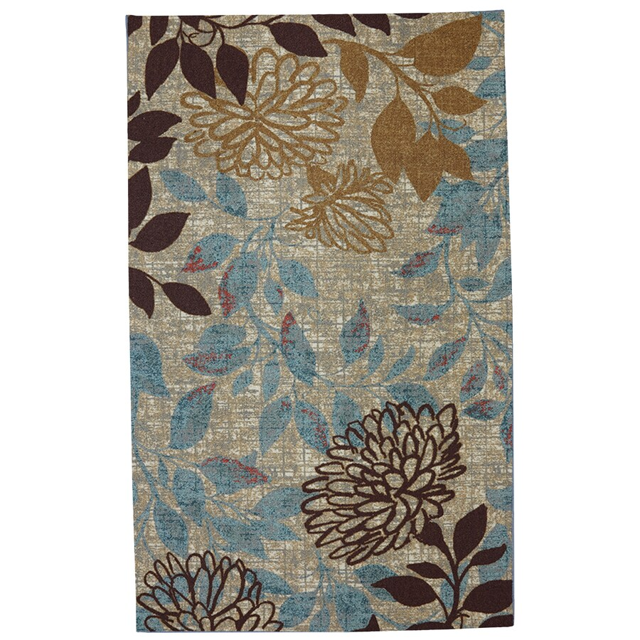 Mohawk Home Bella Garden Ivory Rectangular Outdoor Machine-made Inspirational Area Rug (Common: 5 X 8; Actual: 5-ft W x 8-ft L x 0.5-ft dia)