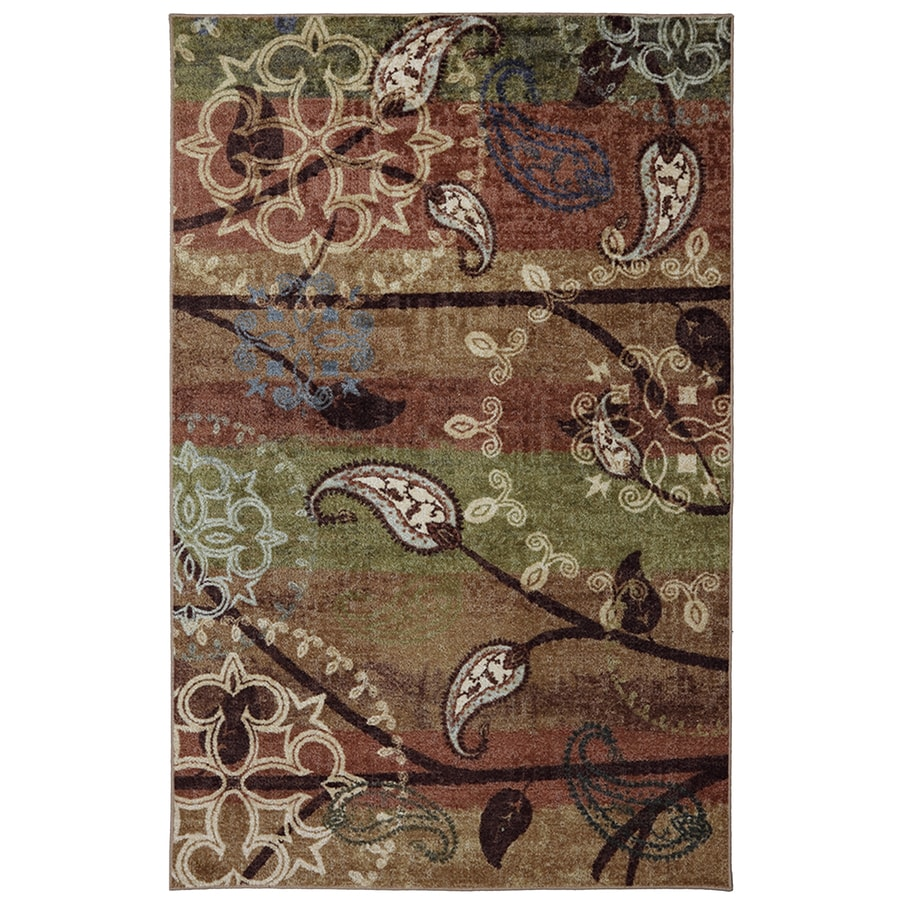 Mohawk Home Paisley Garden Rectangular Cream Floral Tufted Area Rug (Common: 8-ft x 10-ft; Actual: 96-in x 120-in)