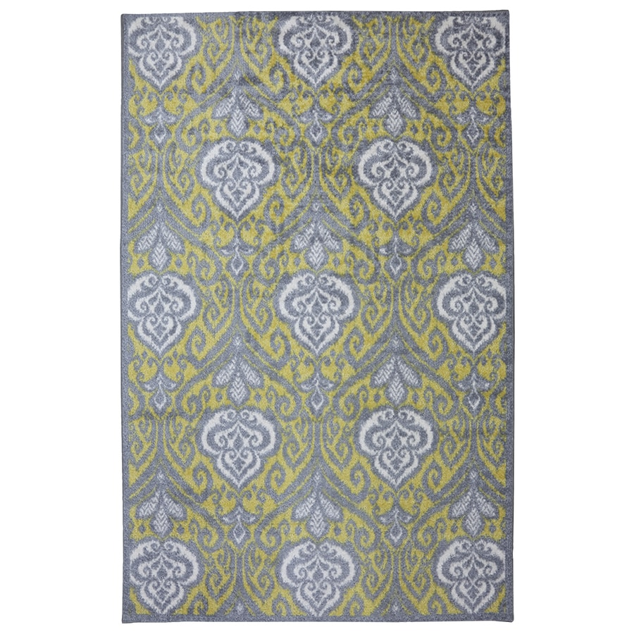 Mohawk Home Elegant Ikat Gray Rectangular Indoor Tufted Area Rug (Common: 8 x 10; Actual: 8-ft W x 10-ft L x 0.5-ft Dia)