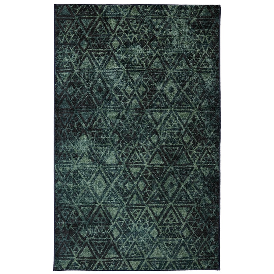 Mohawk Home Indie Pattern Rectangular Green Geometric Tufted Area Rug (Common: 5-ft x 8-ft; Actual: 5-ft x 8-ft)