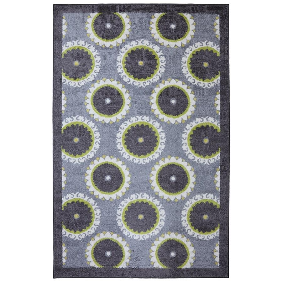 Mohawk Home Rotunda Medallion Purple Rectangular Indoor Tufted Area Rug (Common: 8 x 10; Actual: 96-in W x 120-in L x 0.5-ft Dia)