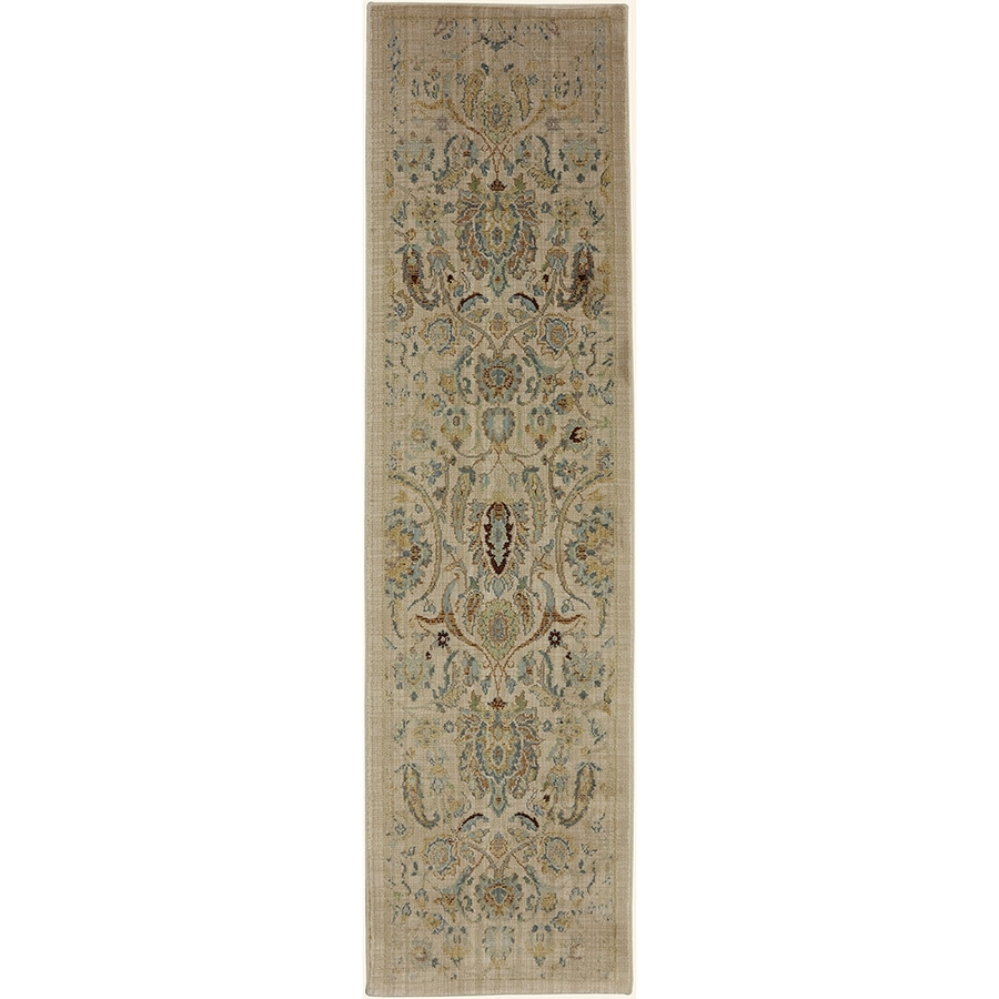 Mohawk Home Serenity Sentiment Butter Pecan Rectangular Indoor Machine-Made Area Rug (Common: 2 x 8; Actual: 2-ft W x 7-ft L)