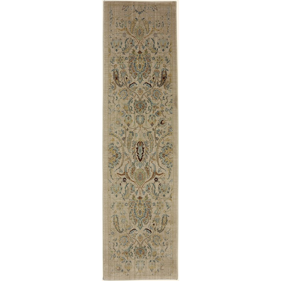 Mohawk Home Serenity Sentiment Butter Pecan Rectangular Indoor Machine-Made Area Rug (Common: 4 x 6; Actual: 3-ft W x 5-ft L)