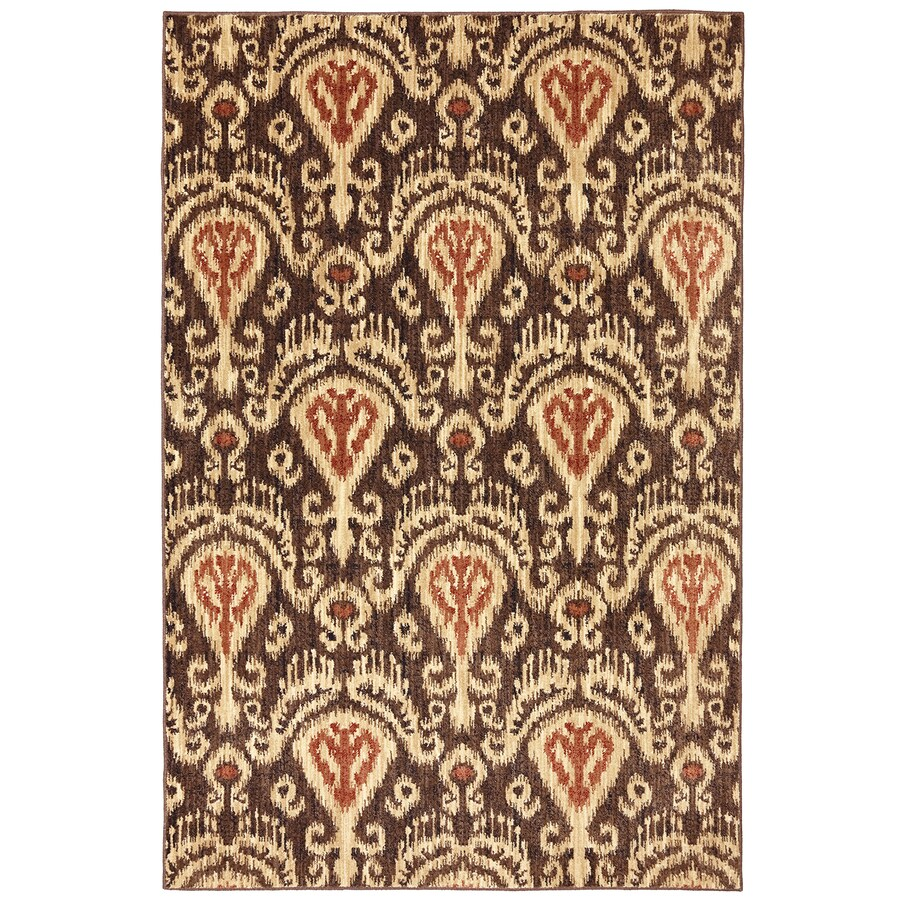Mohawk Home Dryden Chandelier Latte Rectangular Indoor Machine-Made Inspirational Area Rug (Common: 8 x 11; Actual: 8-ft W x 11-ft L x 0.5-ft dia)