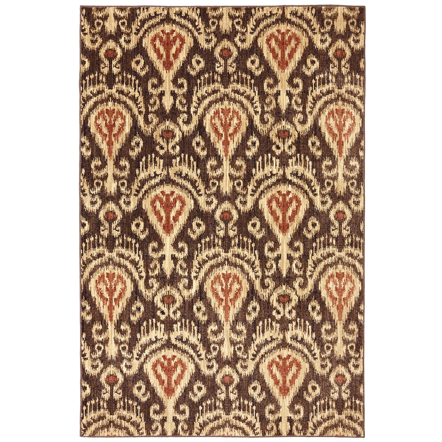 Mohawk Home Dryden Chandelier Latte Rectangular Indoor Woven Area Rug