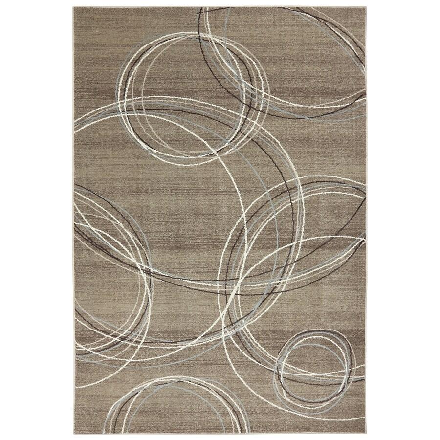 Mohawk Home Spiral Stratum Dark Beige Brown Rectangular Indoor Woven Area Rug (Common: 8 x 11; Actual: 96-in W x 132-in L x 0.5-ft Dia)