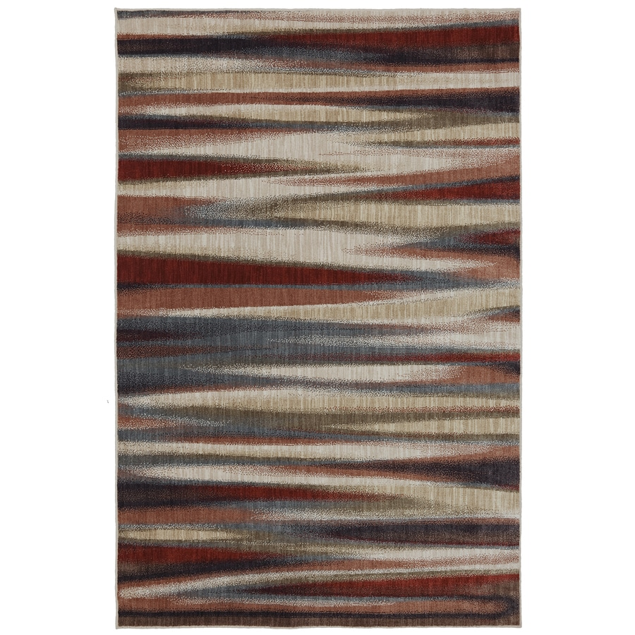 Mohawk Home Dryden Tupper Lake Ashen Rectangular Indoor Machine-Made Inspirational Area Rug (Common: 2 x 8; Actual: 2.1-ft W x 7.1-ft L x 0.5-ft dia)