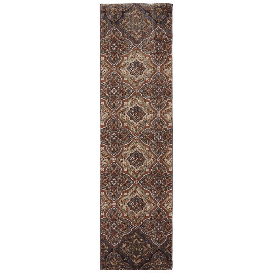 Mohawk Home Dryden Chapel Latte Rectangular Indoor Machine-Made Inspirational Area Rug (Common: 2 x 8; Actual: 2-ft W x 7-ft L x 0.5-ft dia)