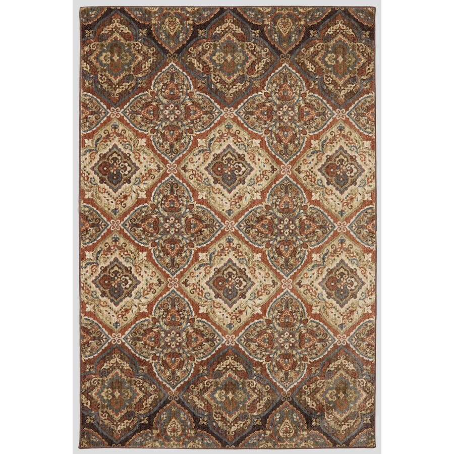 Mohawk Home Dryden Chapel Latte Rectangular Indoor Machine-Made Area Rug (Common: 5 x 8; Actual: 5-ft W x 7-ft L)