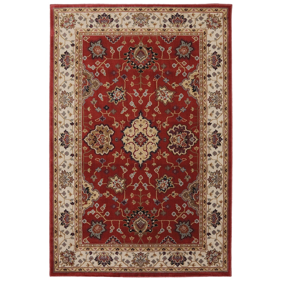 Mohawk Home Rockefeller Ruby Red Rectangular Indoor Woven Area Rug (Common: 5 x 8; Actual: 63-in W x 94-in L x 0.5-ft Dia)