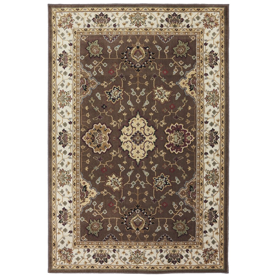 Mohawk Home Rockefeller Brown Brown Rectangular Indoor Woven Area Rug (Common: 8 x 11; Actual: 8-ft W x 11-ft L x 0.5-ft Dia)