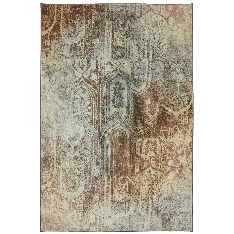 Mohawk Home Serenity Brown Rectangular Indoor Machine-Made Inspirational Area Rug (Common: 8 x 11; Actual: 8-ft W x 11-ft L x 0.5-ft Dia)