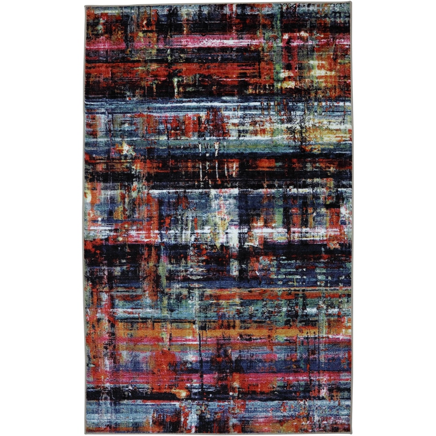 Mohawk Home Windthread Rectangular Black Geometric Tufted Area Rug (Common: 8-ft x 10-ft; Actual: 8-ft x 10-ft)