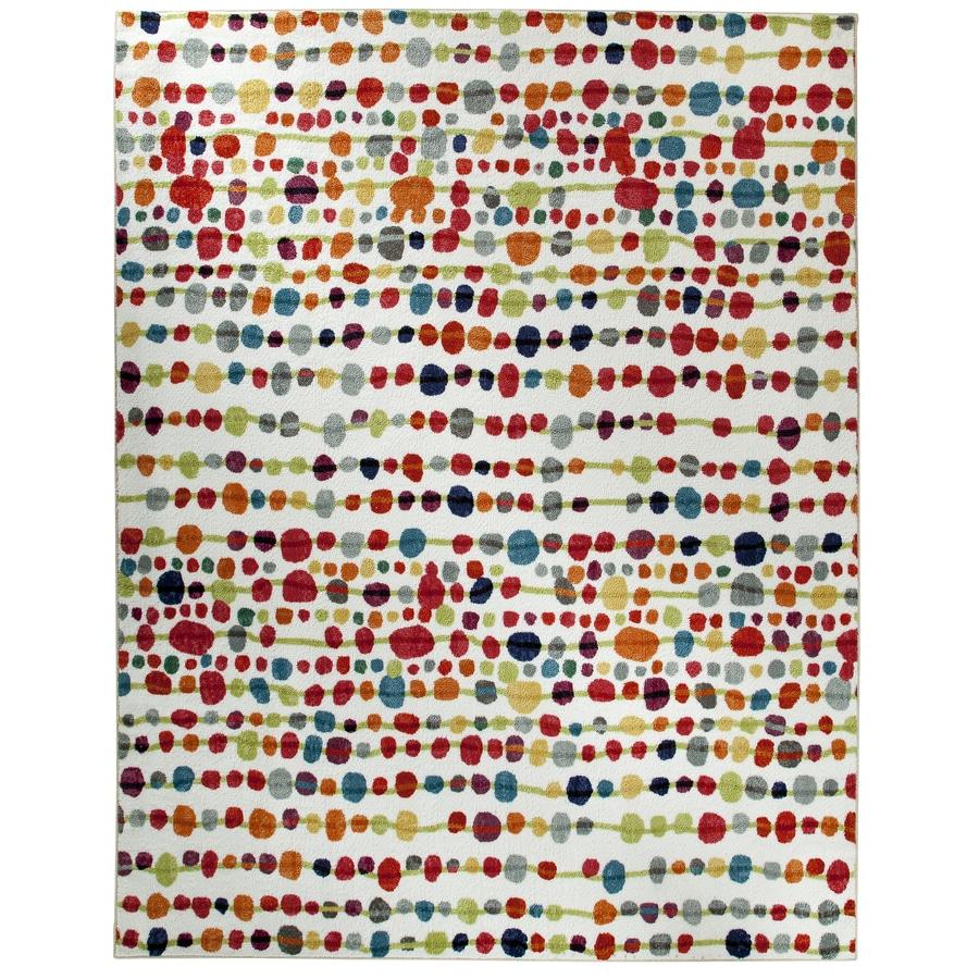 Mohawk Home Delerus Multicolor Rectangular Indoor Tufted Area Rug (Common: 8 x 10; Actual: 96-in W x 120-in L x 0.5-ft Dia)