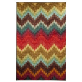Mohawk Home Painted Zig Zag Multicolor Indoor Inspirational Area Rug Common 5 X 8
