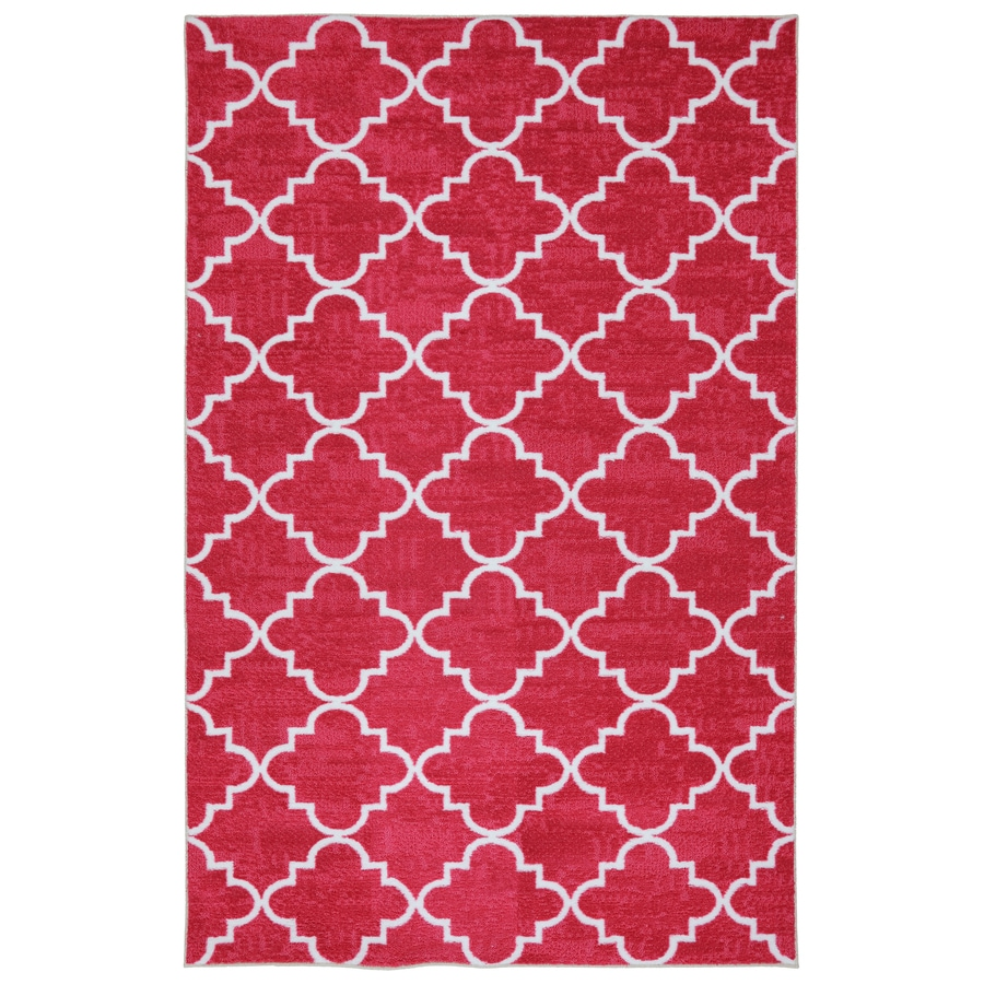 Mohawk Home Fancy Trellis Rectangular Red Transitional Tufted Area Rug (Common: 8-ft x 10-ft; Actual: 96-in x 120-in)