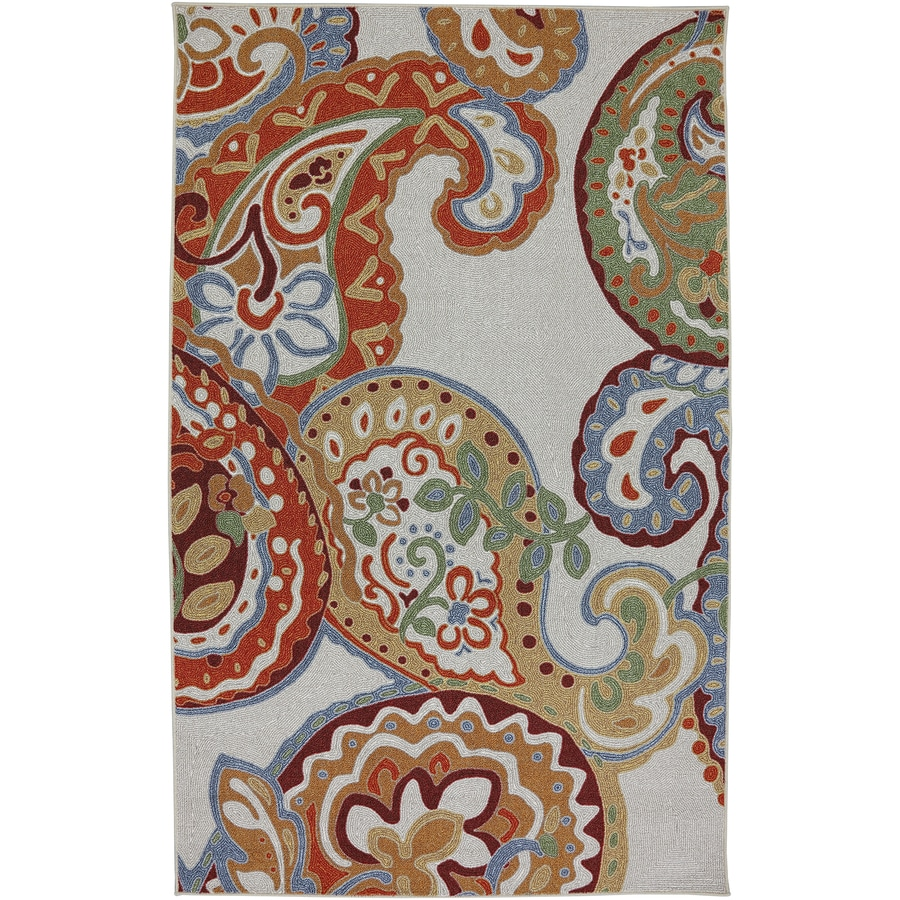 Mohawk Home Paisley Escape Multi Cream Rectangular Indoor Tufted Area Rug (Common: 5 x 8; Actual: 5-ft W x 8-ft L x 0.5-ft Dia)